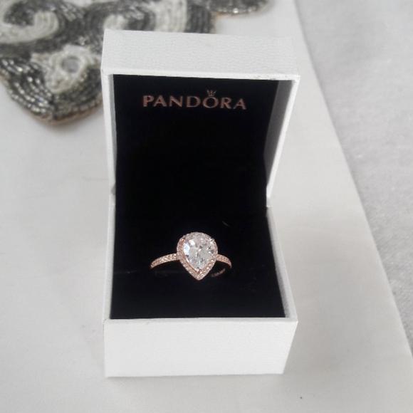 Pandora size 9 pear shaped ring